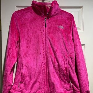 The North Face Women's XL pink fuzzy jacket
